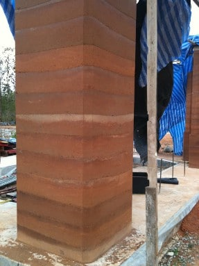 rammed earth layers
