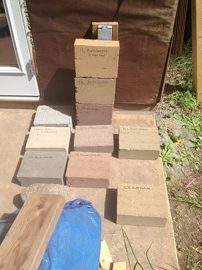 Rammed earth color samples