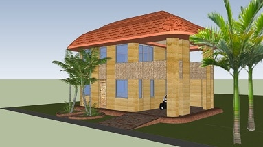 africa eco rammed earth house